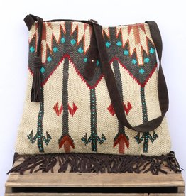 Punchy's Navajo Inspired Carpet Crossbody Tote