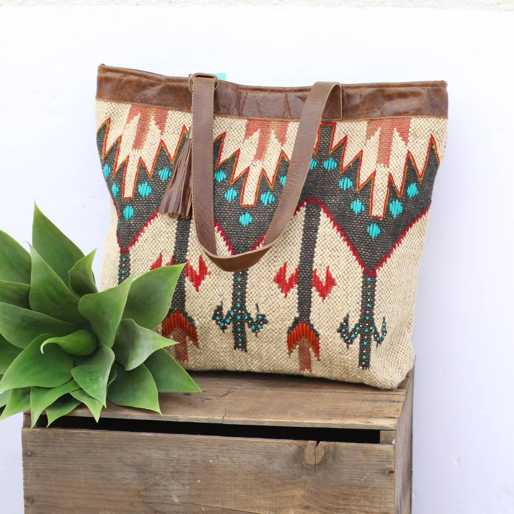 Navajo Inspired Carpet Tote