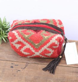 Red Navajo Inspired Mini Travel Pouch