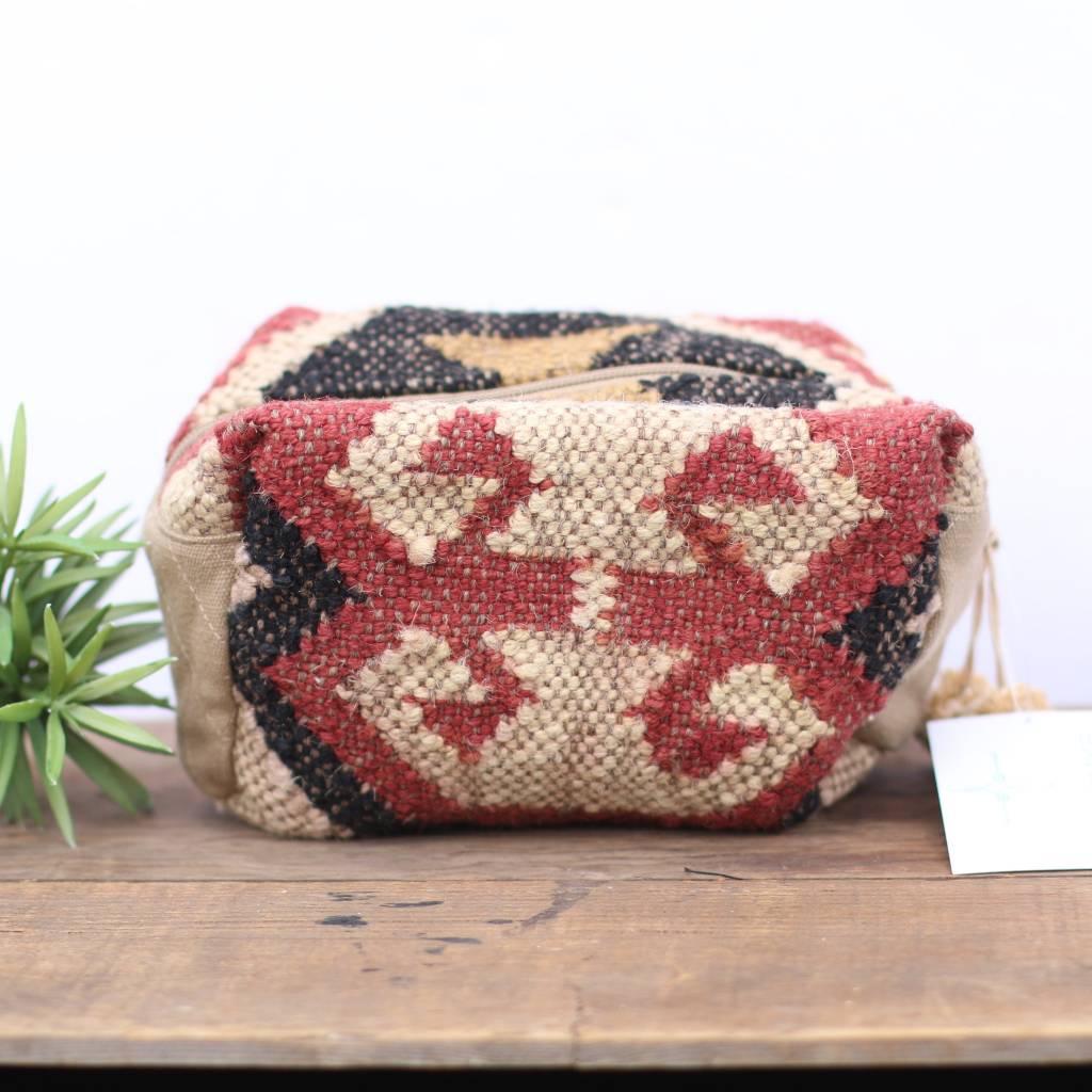 Tan Navajo Inspired Mini Travel Pouch