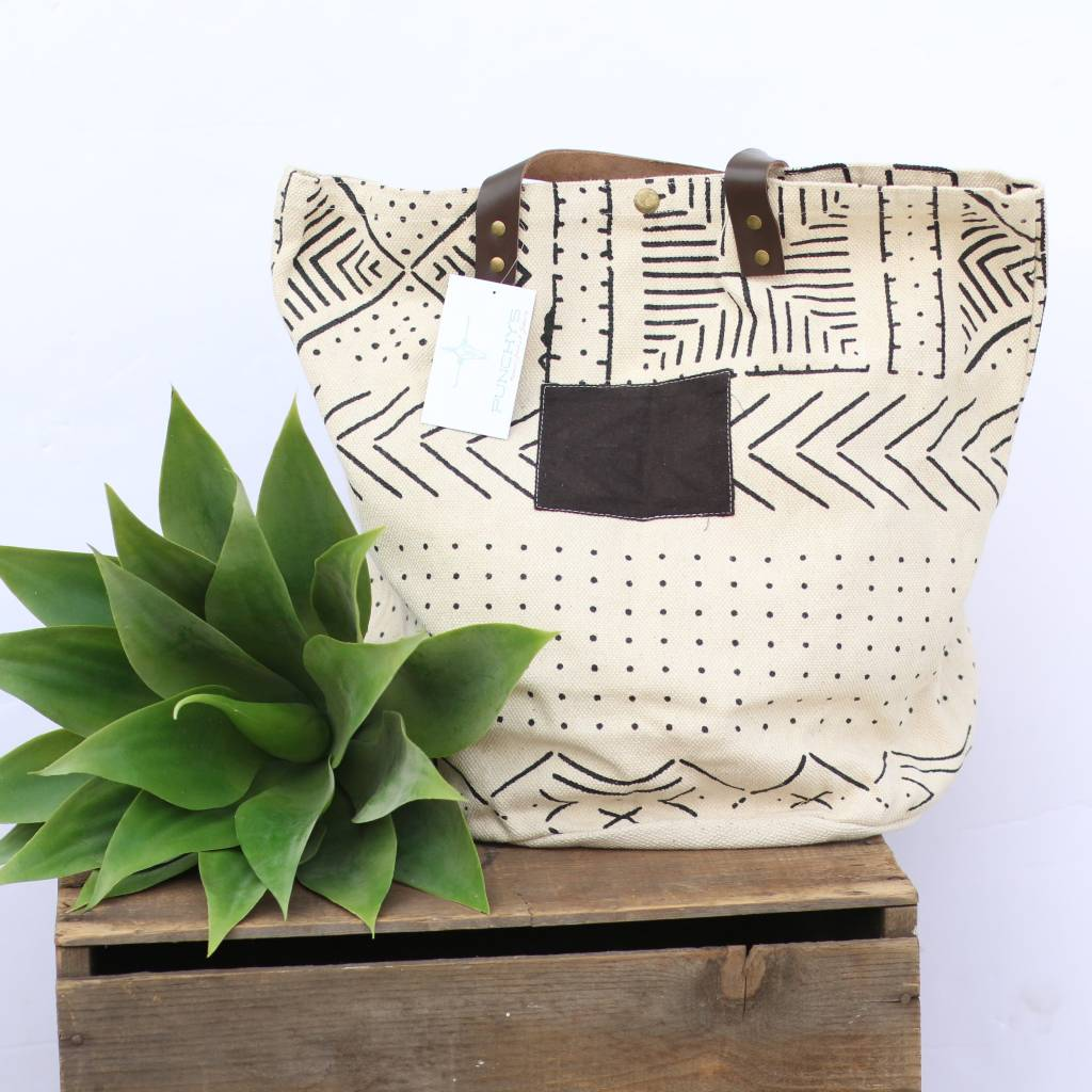 Punchy's Canvas Tribal Print Bucket Bag
