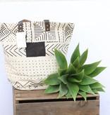 Canvas Tribal Print Bucket Bag