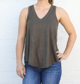 The Suede V Neck Tank