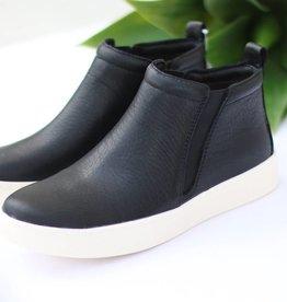 Black High Top Slip On Sneakers