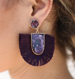Punchy's Tortoise Fringe Earrings