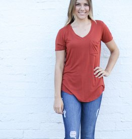 Punchy's V Neck Left Pocket Tee