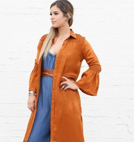 Punchy's Rust Western Blouse Dress Duster
