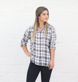 Punchy's The Slouchy Plaid Long Sleeve