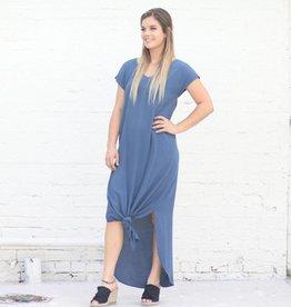 Punchy's Slate Blue Strappy Back Maxi Shift Dress