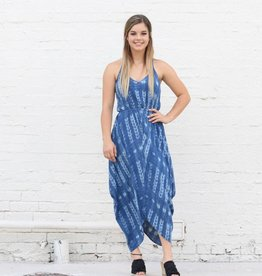 Punchy's Printed Racerback Draped Cocoon Dress