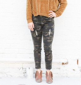 Punchy's Distressed Camo Skinny Jeans