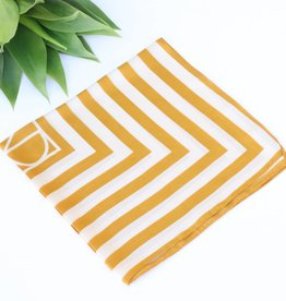 Punchy's Mustard Two Tone Striped Scarf