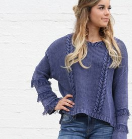 Punchy's Fringe Sleeve Knit Sweater