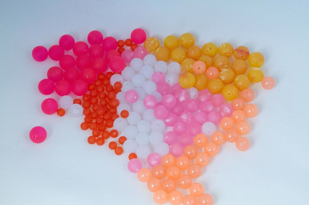 Cascade Crest Tools Trout Beads, Orange Clear, 8mm