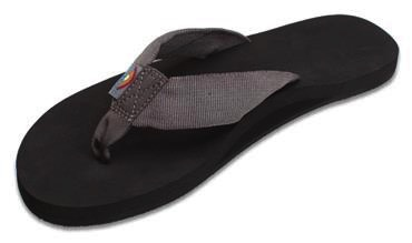 Rainbow Sandals Rainbow Sandals The Cloud - Soft Rubber Top Grey Polyester Strap