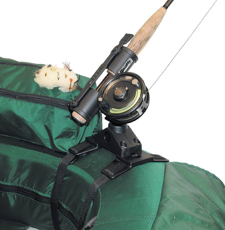 Outcast/Aire Scotty Fly Rod Holder, Pontoon Strap Mount