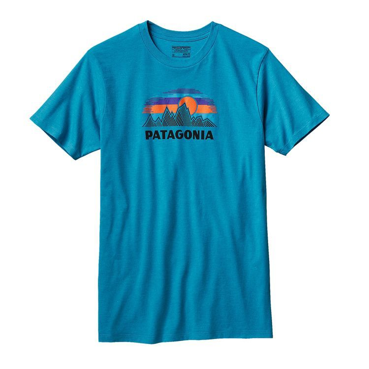 Patagonia Patagonia M's Woven Fitz Roy Cotton/Poly T-Shirt