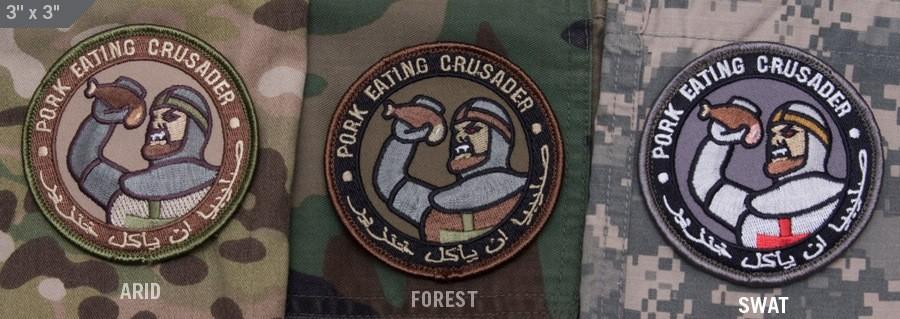 Patches Mil-Spec Monkey Pork Eating Crusader, Arid