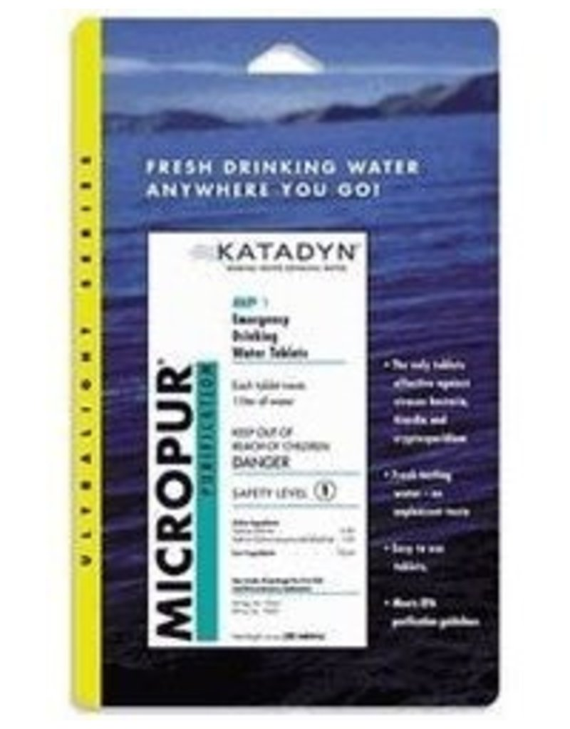 Survival Katadyn Micropur Purification Tablets, 30 Pack