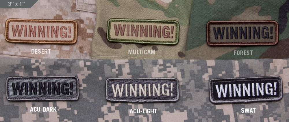 Patches Mil-Spec Monkey Winning Patch, ACU dark