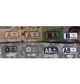 Patches Mil-Spec Monkey, Blood Type, ACU Dark, AB- Neg
