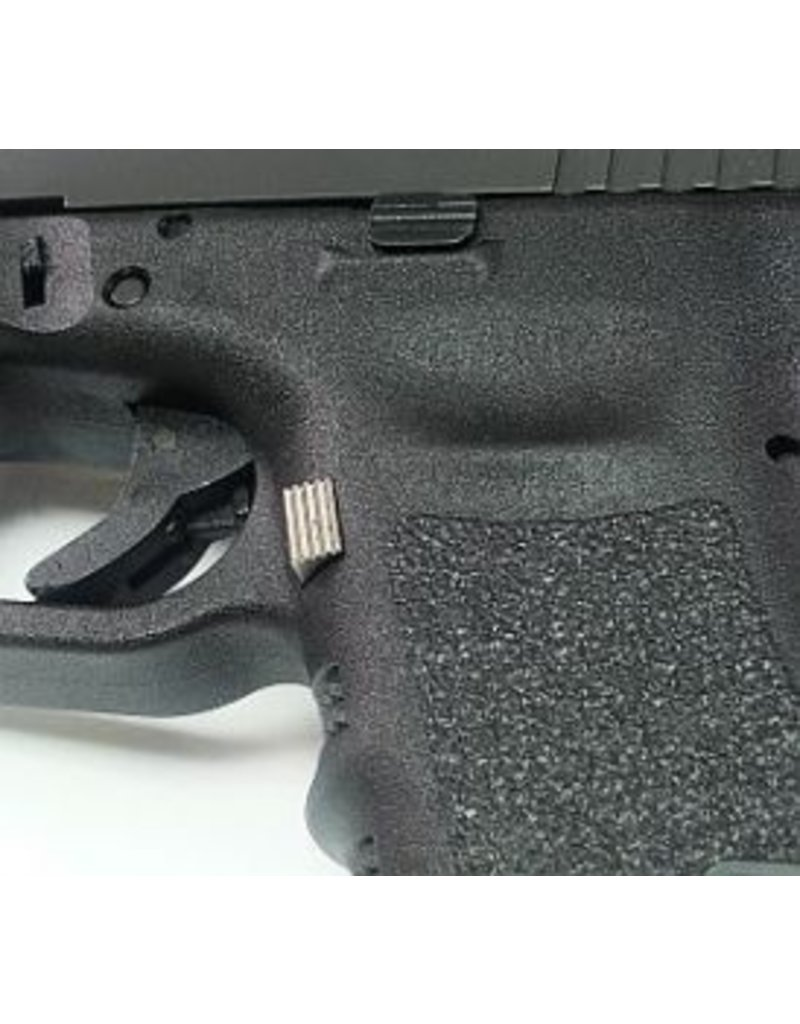 Glock Bar Chrome Stock Length Magazine Release Gen 3 - 17, 19, 22, 23, 24, 25, 26, 27, 31, 32, 33, 34, 35, 37, 38, 39