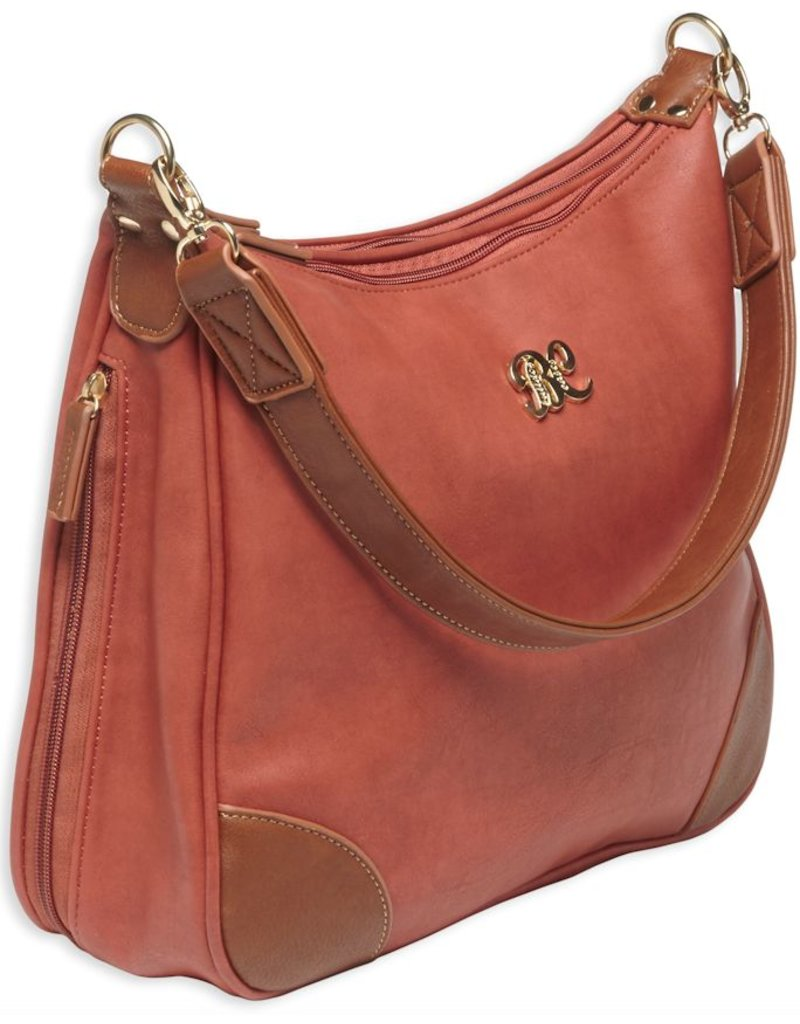 Pack and Etc (Purse) Bulldog Hobo Conceal Carry Purse, Brick Red with Tan Trim, includes holster