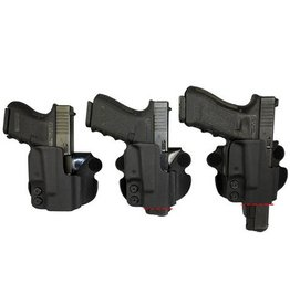 Plastic Comp-Tac Paddle Holster, Glock 19/23, Black, Straight, Slide Version
