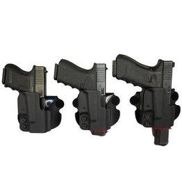 Plastic Comp-Tac Paddle Holster, Glock 19/23, Black, Straight, Slide Version