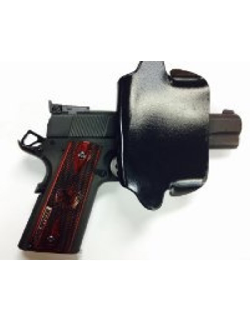 "Plastic Comp-Tac Paddle Holster, 1911 4"", Black, Straight, Left Handed, Slide Version (Closeout)"