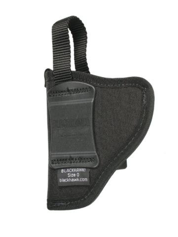Nylon BLACKHAWK Nylon Hip Holster, small autos (.22-.25 cal), RH, Black (CO)