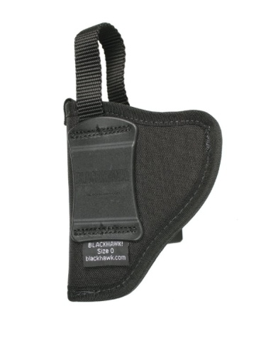 Nylon BLACKHAWK Nylon Inside the Pants Holster w/Retention Strap,  Size 6, RH, Black