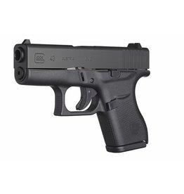 Handgun New Glock 43, 9mm, fixed sights, 6 rd, 2 mags