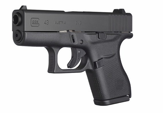Handgun New Glock 43, 9mm, fixed sights, 6 rd, 2 mags