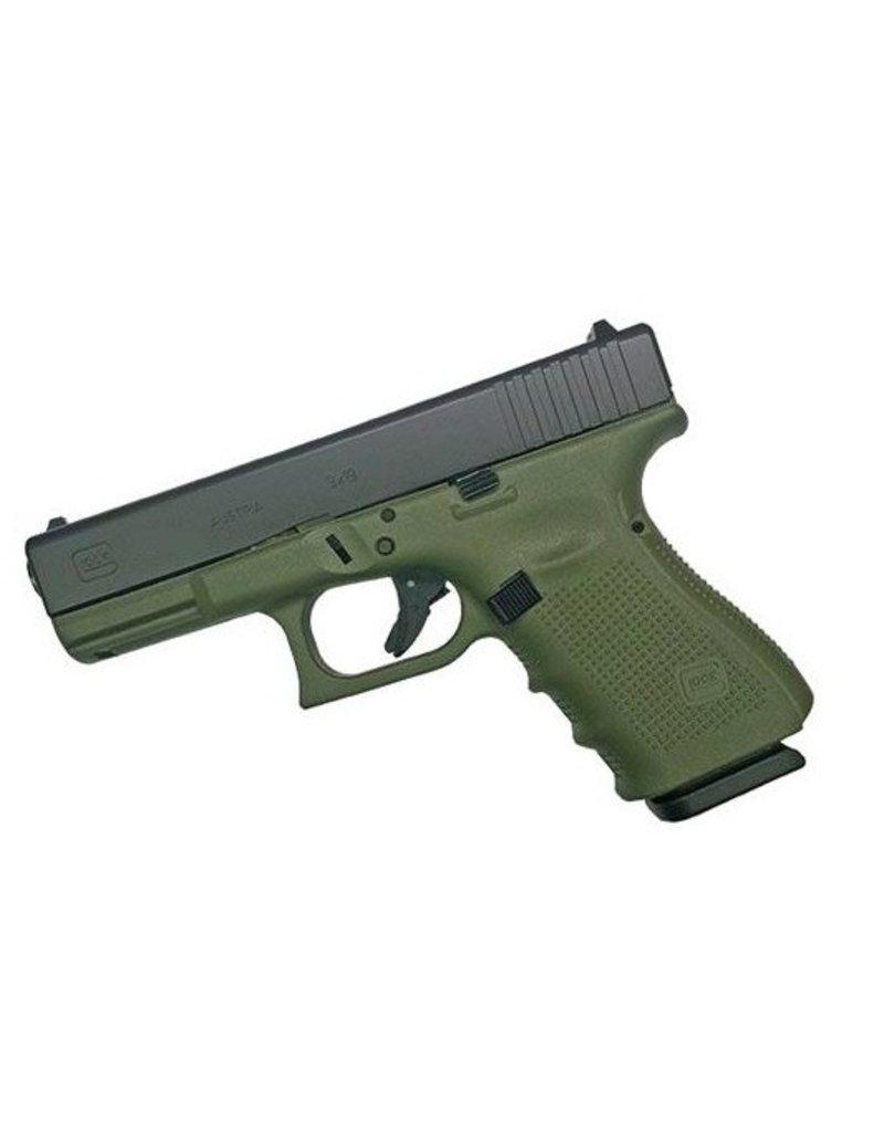 Handgun New Glock 19 Gen 4, 9 mm, 15 rd, 3 mags, Battlefield Green Frame