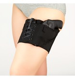 Nylon Can Can Concealment Classic Garter - Small - Black