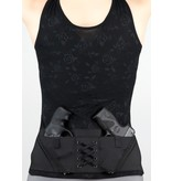 Nylon Can Can Concealment Classic Corset - Large - Black