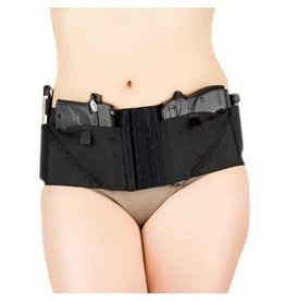 Nylon Can Can Concealment Classic Hip Hugger - Large - Black
