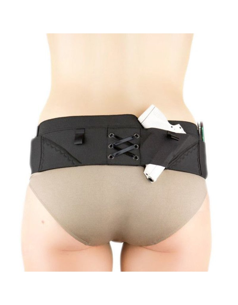 Nylon Can Can Concealment Classic Hip Hugger - XL - Black