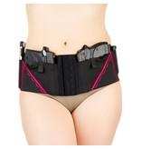Nylon Can Can Concealment Classic Hip Hugger - Medium - Hot Pink