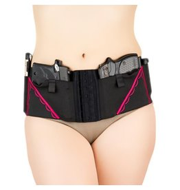 Nylon Can Can Concealment Classic Hip Hugger - Medium - Hot Pink