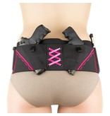 Nylon Can Can Concealment Classic Hip Hugger - Small - Hot Pink