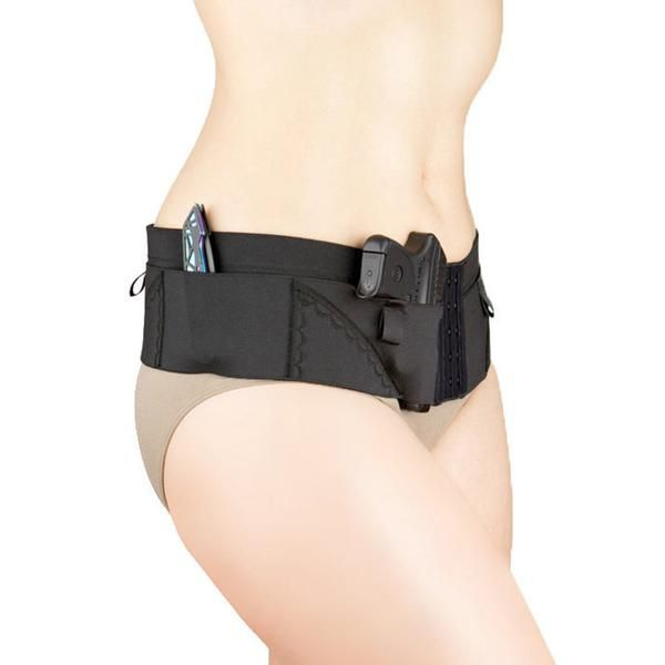 Nylon Can Can Concealment Micro Hip Hugger - Medium - Black (CO)