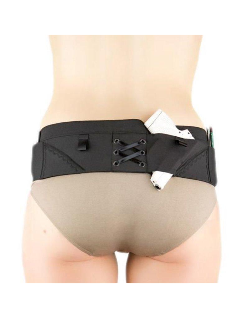 Nylon Can Can Concealment Micro Hip Hugger - Medium - Black