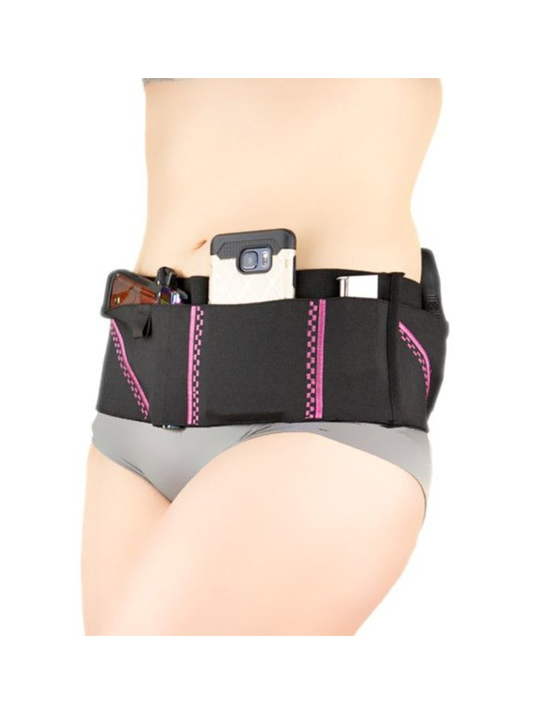 Nylon Can Can Concealment Sport Belt Classic Holster - Medium - Neon Pink