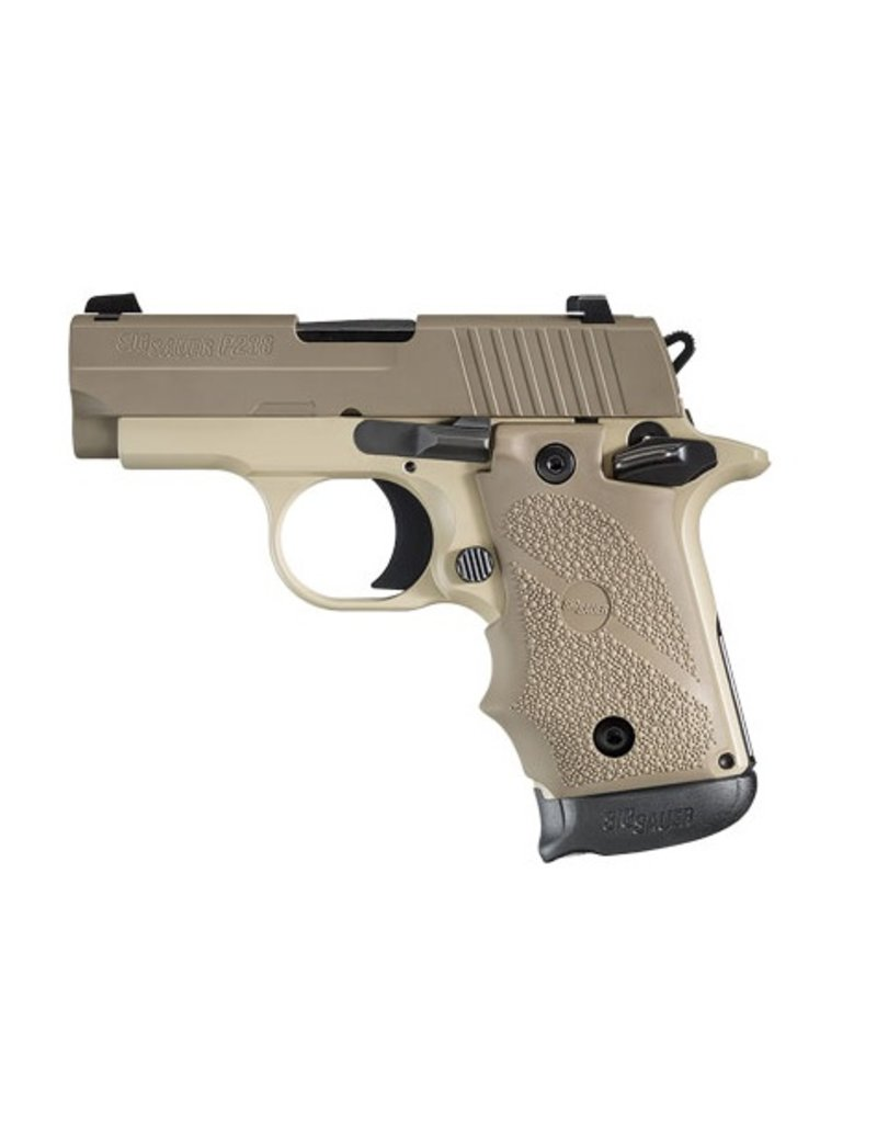 "Handgun New Sig Sauer P238 Desert, 380acp, 2.7"", Night Sights, 7rd."