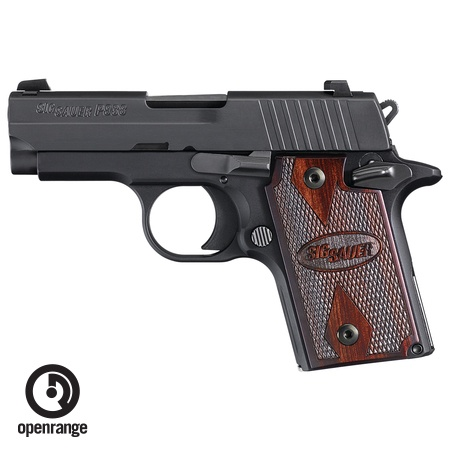 Handgun New Sig Sauer P938 Black w/Rosewood Grips, 9mm, 6 rd