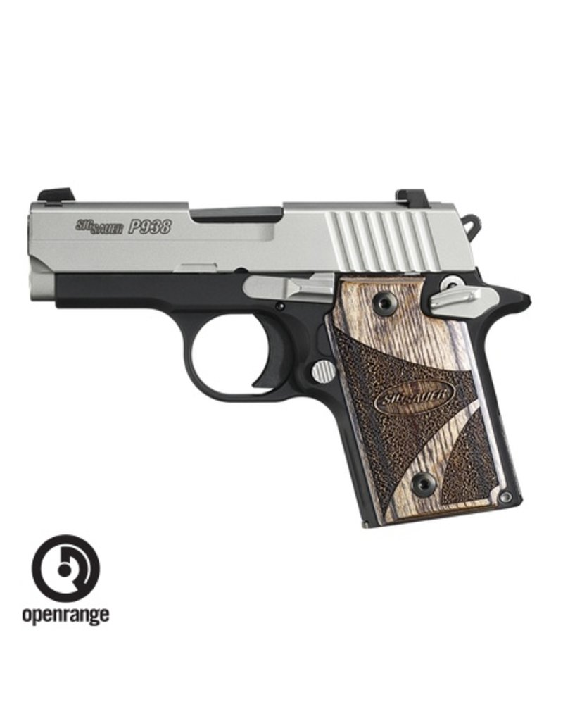 Handgun New Sig Sauer P938 SAS w/Goncalo Wood Grips, 9mm, 6 rd