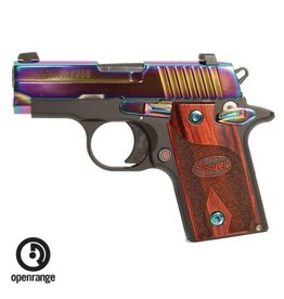 Handgun New Sig Sauer P238, 380, 6 rd, rainbow, night sights