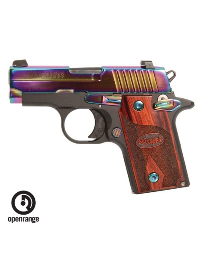 Handgun New Sig Sauer P238, 380, 6 rd, rainbow, night sights